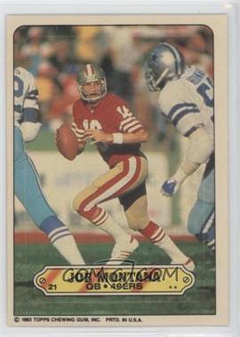1983 Topps - Stickers #21 - Joe Montana