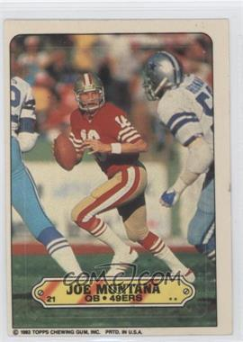 1983 Topps - Stickers #21 - Joe Montana