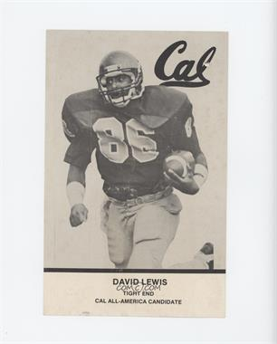 1983 University of California Golden Bears Postcards - [Base] #NoN - David Lewis [Noted]