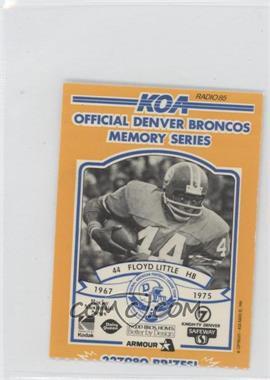 1984 KOA Denver Broncos Memory Series - [Base] - Ripped #FLLI - Floyd Little