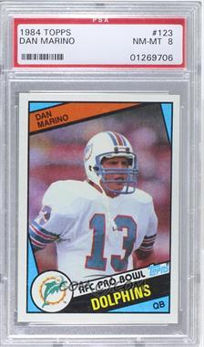 1984 Topps - [Base] #123 - Dan Marino [PSA8NM‑MT]