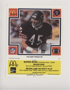 sneakers for cheap 0a407 6562f 1985 McDonald's Chicago Bears - [Base] - Super Bowl Yellow ...