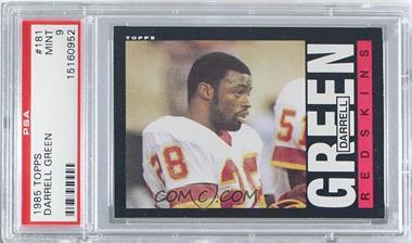 1985 Topps - [Base] #181 - Darrell Green [PSA9]