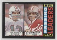 1984 Passing Leaders (Dan Marino, Joe Montana) [EX to NM]