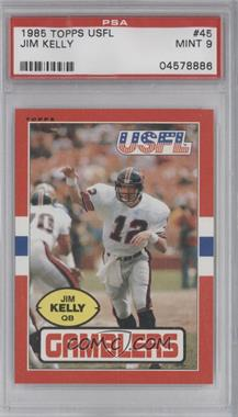 1985 Topps USFL - [Base] #45 - Jim Kelly [PSA9]