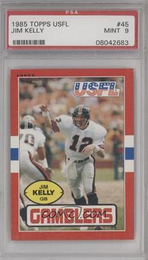 1985 Topps USFL - [Base] #45 - Jim Kelly [PSA9MINT]