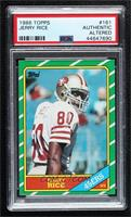 Jerry Rice [PSAAuthenticAltered]