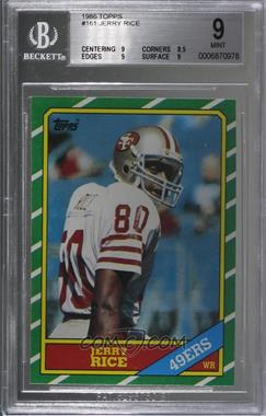 1986 Topps - [Base] #161 - Jerry Rice [BGS9MINT]