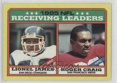 1986 Topps - [Base] #226 - Lionel James, Roger Craig