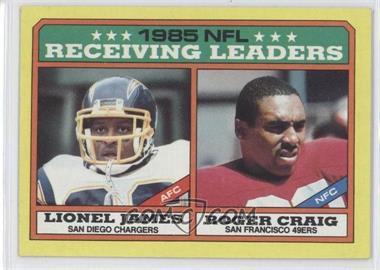 1986 Topps - [Base] #226 - Lionel James, Roger Craig