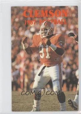 1987 Clemson University Tigers Schedule Cards - [Base] #N/A - [Missing]