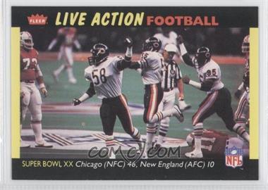 1987 Fleer Live Action Football - [Base] #84 - [Missing]