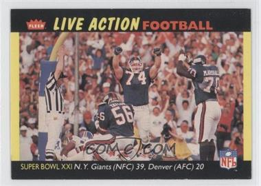1987 Fleer Live Action Football - [Base] #85 - [Missing]