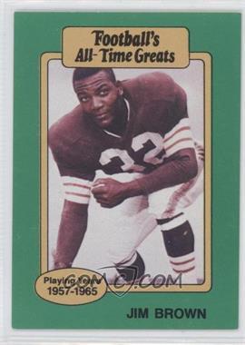 1987 Hygrade Football's All-Time Greats - [Base] #JIBR - Jim Brown