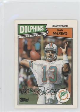 1987 Topps United Kingdom American Football - [Base] #51 - Dan Marino