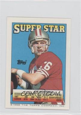1988 Topps Super Star Sticker Back Cards - [Base] #6.6 - Joe Montana (Stump Mitchell 27, Mark Haynes 178)
