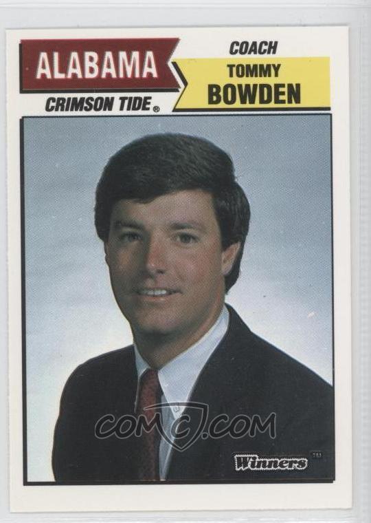 1988 Winners Alabama Crimson Tide - Base #TOBO - Tommy ...