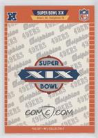 Super Bowl XIX - San Francisco 49ers, Miami Dolphins