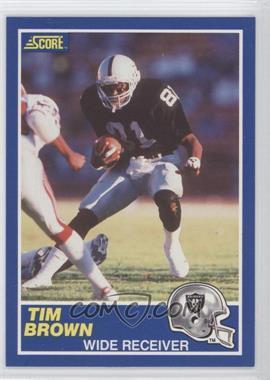 1989 Score - [Base] #86 - Tim Brown