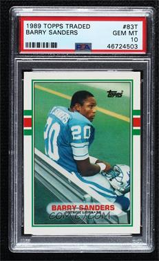 1989 Topps Traded - [Base] #83T - Barry Sanders [PSA10GEMMT]
