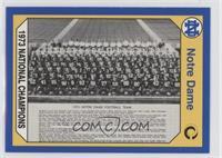 Notre Dame Fighting Irish Team (1973 Champs)