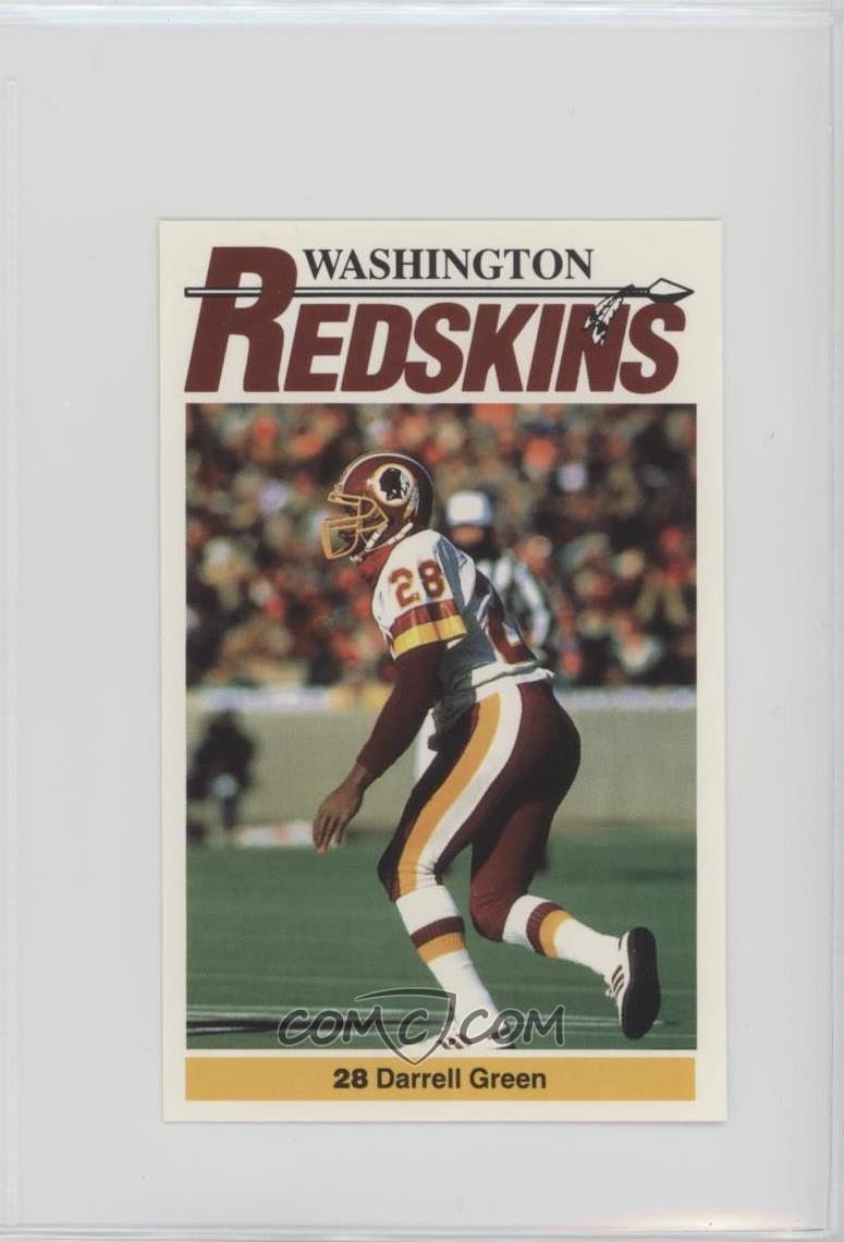 1990 Mobil Washington Redskins Police -  Base   28 - Darrell Green ... a237af302