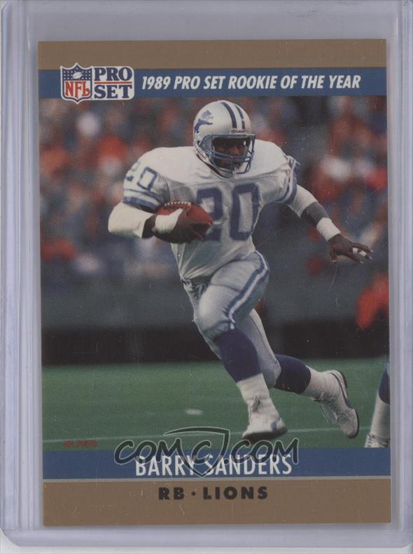 1990 Pro Set Base 11 Award Winner Barry Sanders