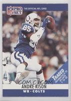 Andre Rison (traded on front white lettering)