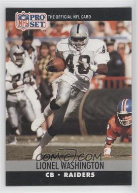 1990 Pro Set - [Base] #549 - Lionel Washington