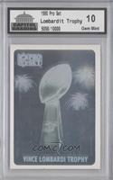 Vince Lombardi Trophy Hologram [Encased] #/10,000