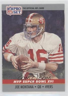 1990 Pro Set - Super Bowl MVP's #16 - Joe Montana