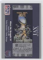Super Bowl XVI Ticket
