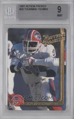 1991 Action Packed - [Base] #20 - Thurman Thomas [BGS 9]