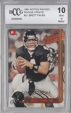 1991 Action Packed Rookies - [Base] #21 - Brett Favre [ENCASED]