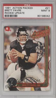 1991 Action Packed Rookies - [Base] #21 - Brett Favre [PSA9MINT]