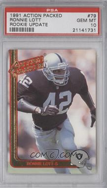 1991 Action Packed Rookies - [Base] #79 - Ronnie Lott [PSA10]