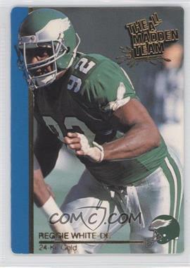 1991 Action Packed The All-Madden Team - [Base] - 24 Kt. Gold #19G - Reggie White