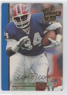 1991 Action Packed The All-Madden Team - [Base] - 24 Kt. Gold #31G - Thurman Thomas