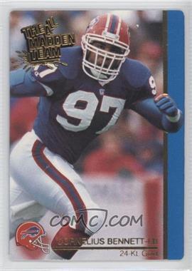 1991 Action Packed The All-Madden Team - [Base] - 24 Kt. Gold #32G - Cornelius Bennett