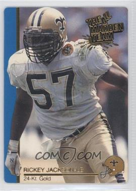 1991 Action Packed The All-Madden Team - [Base] - 24 Kt. Gold #33G - Rickey Jackson