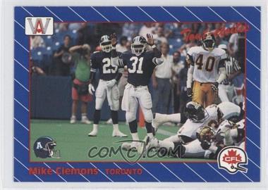 1991 All World CFL - [Base] #75 - Michael Clemons