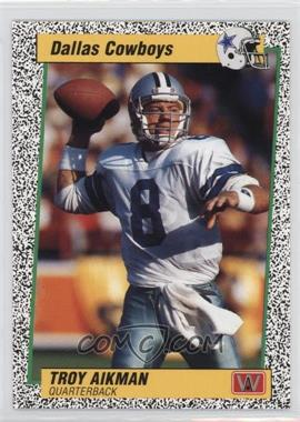 1991 All World Troy Aikman - [Base] #1.2 - Troy Aikman (Speckle Border Spanish)