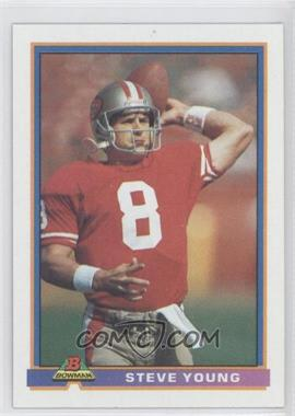 1991 Bowman - [Base] #485 - Steve Young