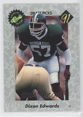 1991 Classic Draft Picks - [Base] #34 - Dixon Edwards