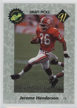 1991 Classic Draft Picks - [Base] #38 - Jerome Henderson