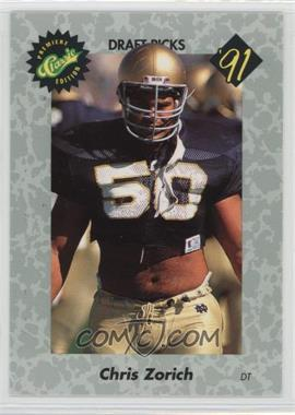 1991 Classic Draft Picks - [Base] #46 - Chris Zorich
