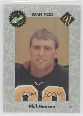 1991 Classic Draft Picks - [Base] #48 - Phil Hansen