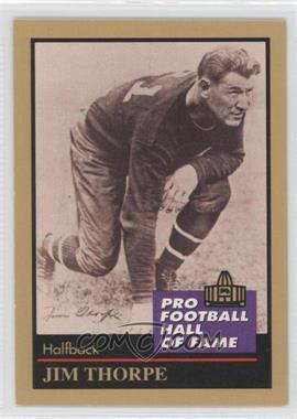 1991 Enor Pro Football Hall of Fame - [Base] #137 - Jim Thorpe