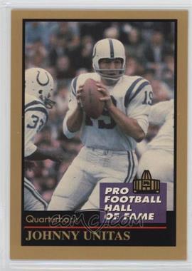 1991 Enor Pro Football Hall of Fame - [Base] #143 - Johnny Unitas