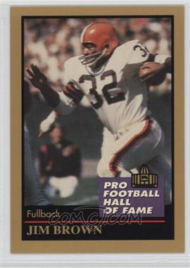 1991 Enor Pro Football Hall of Fame - [Base] #17 - Jim Brown